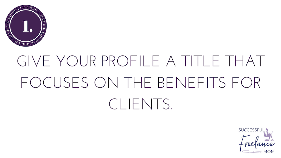 Your profile title can help you get more jobs on upwork
